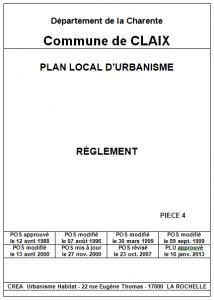 PLU - Règlement