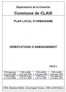 PLU - Orientations d'aménagement